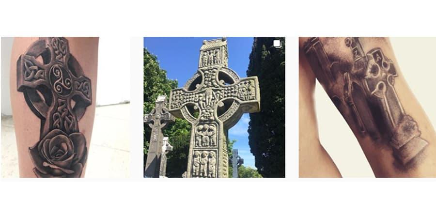tatuaje cruz celta