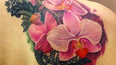 significado del tatuaje de una orquidea