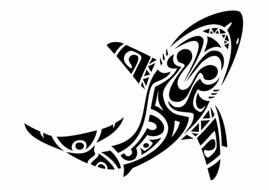tatuaje tiburon blanco