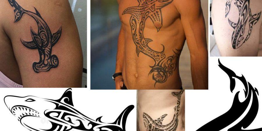 tatuaje de tiburón maori